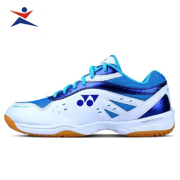 Giày cầu lông nam nữ Yonex màu trắng xanh chơi được sân bê tông-giày thể thao-giày bóng chuyền