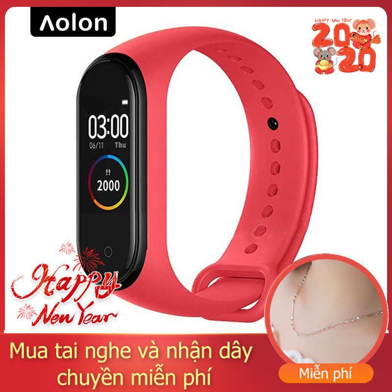 Giá 【2020】【Năm mới】【Calo】【Đảm bảo chất lượng】Đồng hồ đeo tay thông minh AOLON Bộ theo dõi hoạt động thông minh M4 Vòng đeo tay thông minh Vòng đeo thông minh 4 nhịp tim theo dõi thể dục Đồng hồ thông minh dành cho nam giới