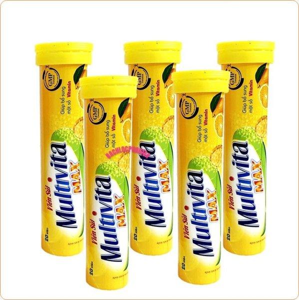 [Combo 5 Tuýp Sủi 4g] Viên Sủi Multi Vitamin Fruits- Bổ Sung 10 Loại Vitamin Và Khoáng Chất – Giúp Tăng Cường Sức Đề Kháng, Tăng