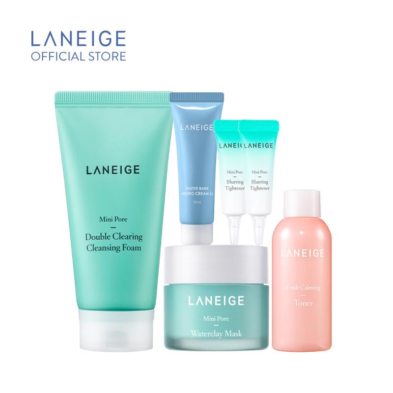 Bộ Làm Sạch Và Se Khít Lỗ Chân Lông Cho Da Nhờn Dầu Laneige Mini Pore