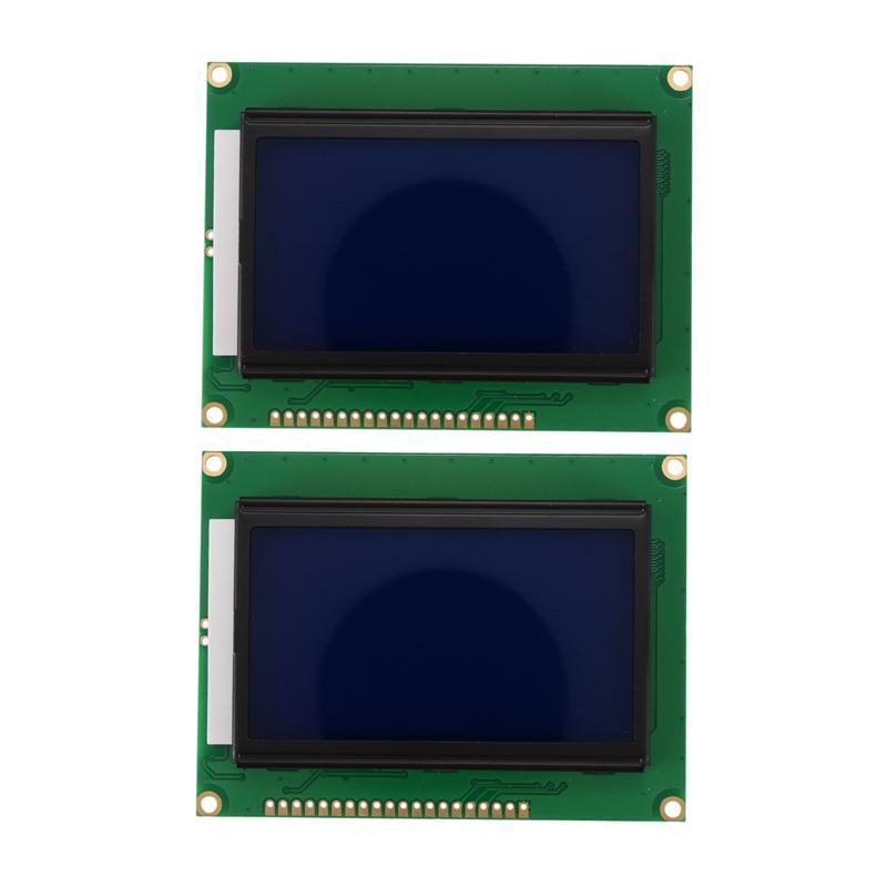 Giá Ưu Đãi Hôm Nay Để Có Ngay 128x64 DOTS LCD Module 5V Blue Screen 12864 LCD With Backlight ST7920 Parallel Port LCD12864