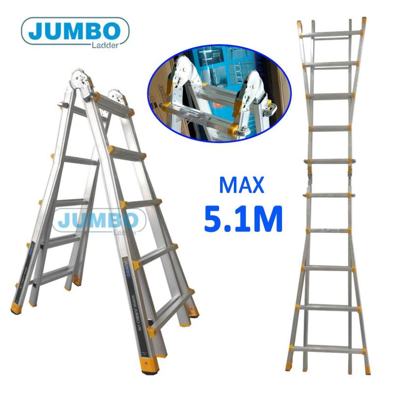 Thang nhôm gấp chữ A đa năng Jumbo A405 5,1m
