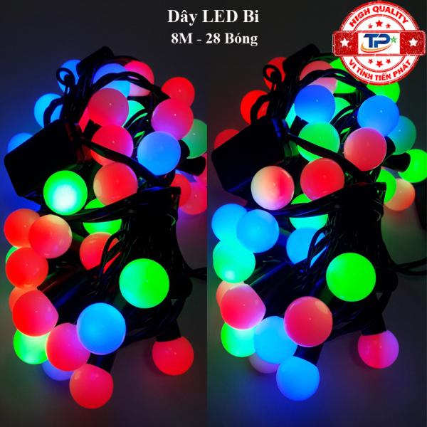 Bảng giá Dây đèn Led Bi dài 8M / 10M nhấp nháy nhiều màu dùng trang trí Sân Vườn, Gia Đình, Quán, Noel, ... Chúc Mừng Năm Mới quà Tết 2021