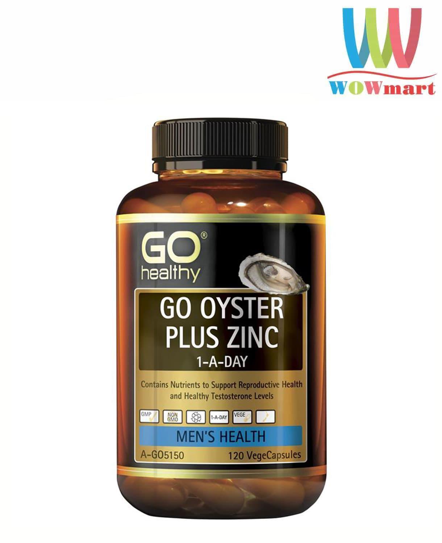 Tăng cường sinh lý nam giới từ tinh chất hàu Go Healthy Go Oyster Plus Zinc 120 viên