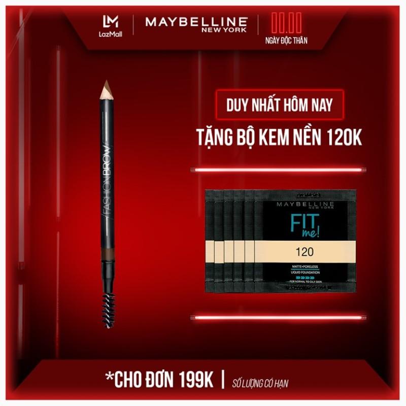 Chì Kẻ Mày 2 Đầu Với Đầu Chì Xéo Mềm Mịn 12H Maybelline New York Fashion Brow Cream Pencil 1.5g nhập khẩu