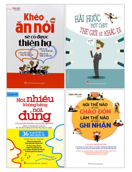 Combo 4 Cuốn Sách Khéo Ăn Nói Sẽ Có Được Thiên Hạ, Hài Hước Một Chút thế giới sẽ khác đi + nói thế nào để được chào đón +nói nhiều không bằng nói đúng