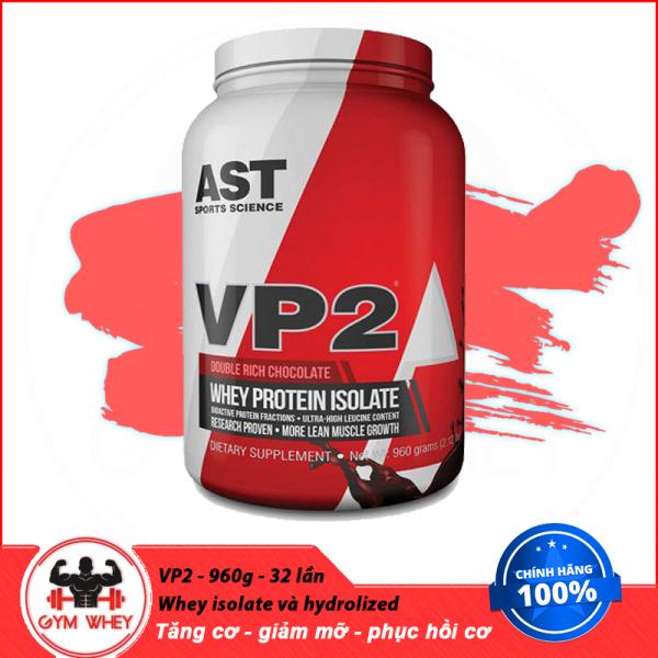 [HCM][Lấy mã giảm thêm 30%]Sữa Tăng Cơ Bắp Không Tăng Mỡ AST VP2 100% Hydrolyzed Isolate Whey 2 lbs (908gram)