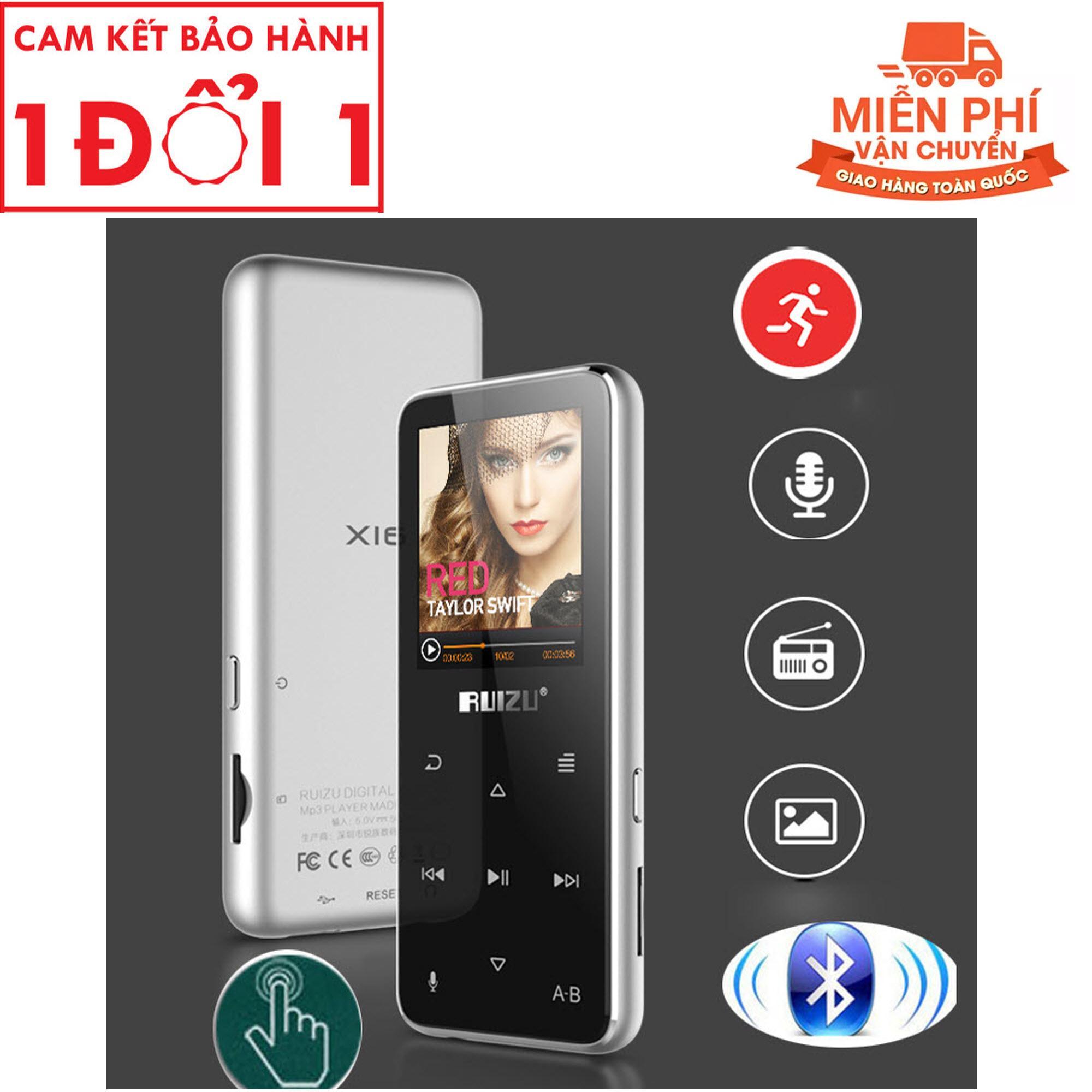 RUIZU X16 Bluetooth MP3 Player Hifi Sports Flac Music Player With Built-in Speaker Support FM Radio Recording E-Book Pedometer - Máy nghe nhạc thể thao Bluetooth, HiFi Ruizu X16-8GB (Hàng công ty nhập khẩu và phân phối trực tiếp)