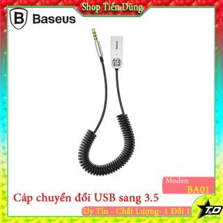 Bộ chuyển âm thanh không dây BASEUS BA01 Wireless Bluetooth Transmitter Stereo từ chân USB sang chân 3.5 tiện lợi thumbnail