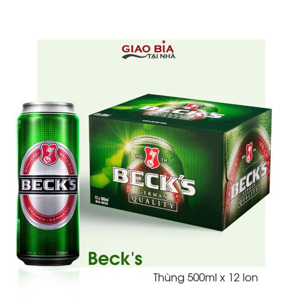 Bia Becks 500ml 12 Lon