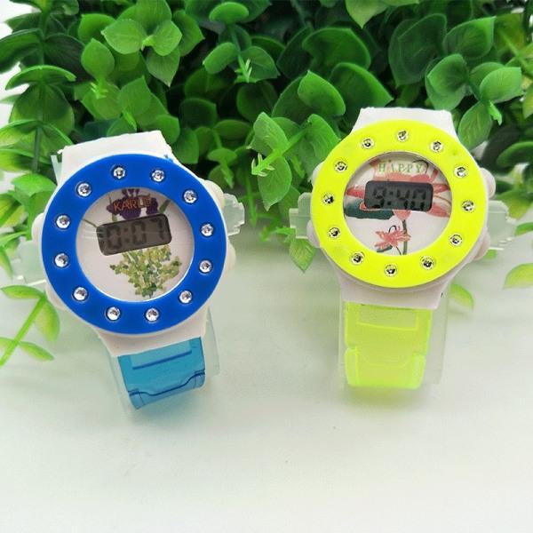 Nơi bán (Màu ngẫu nhiên) Đồng hồ điện tử trẻ em dây nhựa dẻo N3