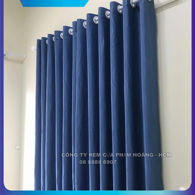 Màn cửa, rèm cửa màu xanh dương, ngang cao tùy chọn, dùng làm rèm cửa chính, rèm cửa sổ, màn cửa chống nắng + tặng dây vén màn trang trí - miasimi curtains hoàng yến