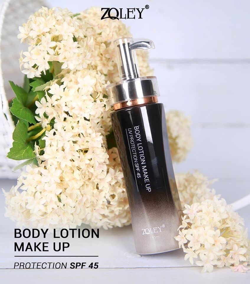 Kem Trang Điểm Toàn Thân 150ml Zoley- Body lotion make up SPF 45 - Mẫu Mới 2019