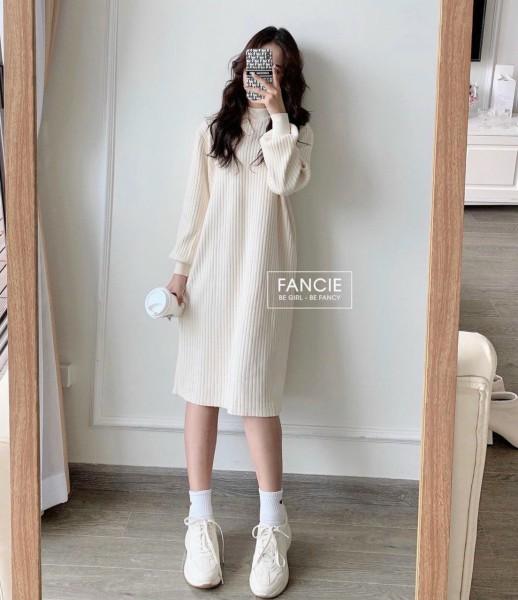 Đầm len mùa đông ấm áp váy nữ cách điệu váy len xinh (Hayday shop)
