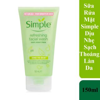 Sữa Rửa Mặt Simple Dành Cho Da Nhạy Cảm 150ml Kind To Skin Refreshing Facial Wash Gel thumbnail