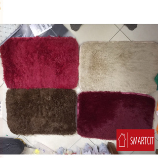 (GIAO MÀU NGẪU NHIÊN)Thảm lông trong nhà ,thảm lau chân 40x60cm-Thảm lông lau chân 40x60cm siêu mềm, sạch sẽ-Thảm chùi chân siêu thấm, lông siêu mịn thumbnail