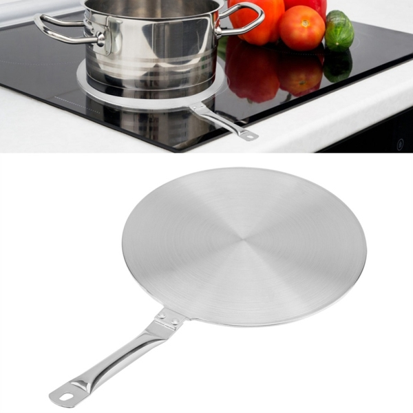 22cm Stainless Steel Cooking Plate Heat Diffuser Converter for Gas Electric Induction Cooker Heat Diffuser Kitchen Utensils