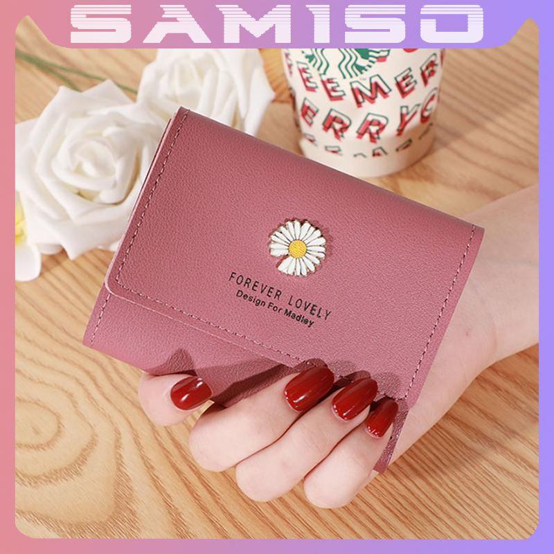 Ví nữ cầm tay mini hoa cúc cao cấp ngắn cute thời trang giá rẻ NG2