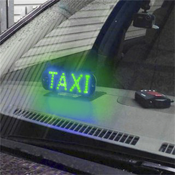 Đèn Led chữ TAXI 12V Gắn Xe hơi