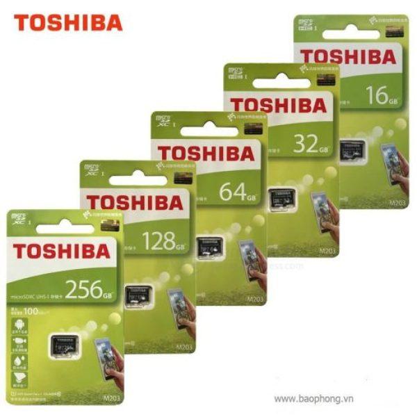 Thẻ nhớ 128GB/64GB/32GB/16GB MicroSDXC Toshiba M203 (Chuyên Camera)