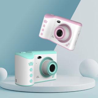 Camera Trẻ Em 2.8 Inch IPS Bảo Vệ Mắt Màn Hình Chia Sẻ Ảnh Màn Hình Cảm Ứng HD Ống Kính Kép Kỹ Thuật Số 18MP Pixel Siêu Cao, Màn Hình Cảm Ứng 2.8 Inch Hiển Thị Camera Kép, Camera Flash Cho Trẻ Em