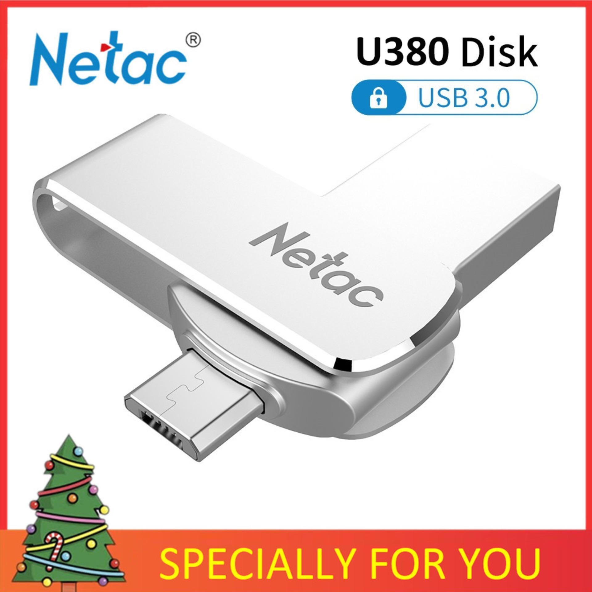 Giá Netac U380 16G/32G/64G USB3.0 Giao Diện Kép Cho Điện Thoại Android Và Máy Tính Tốc Độ Cao mini Đèn Thẻ Nhớ