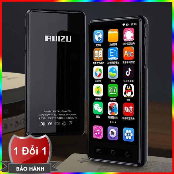 Máy nghe nhạc MP3 RUIZU H8 Màn hình cảm ứng Kết nối Bluetooth Wifi Dung lượng 16GB hỗ trợ tiếng Việt - Máy nghe nhạc xem phim trực tuyến MP3 Ruizu H8 hệ điều hành Adroid 5.1