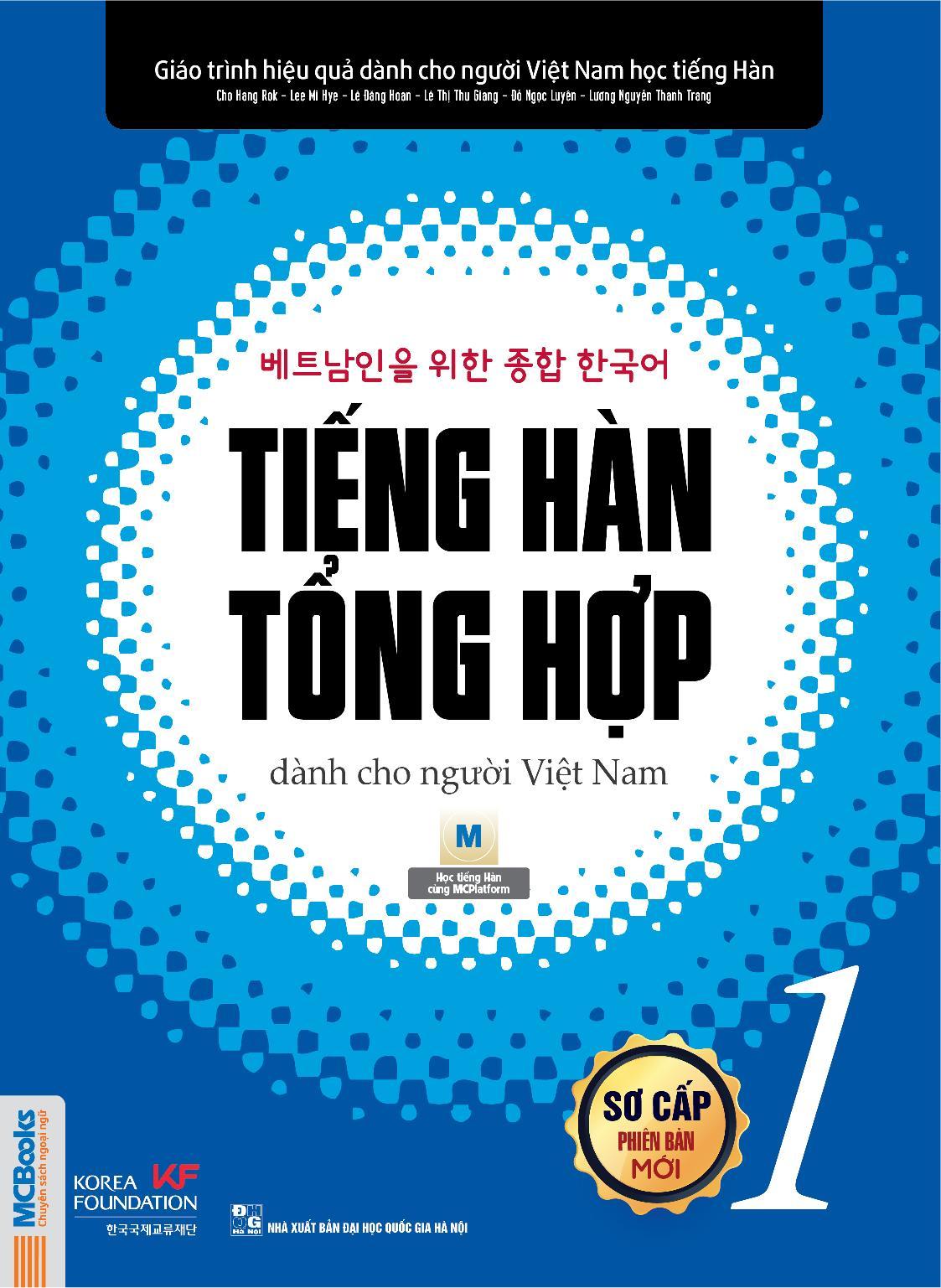 Sách -Giáo Trình Tiếng Hàn Tổng Hợp Dành Cho Người Việt Sơ Cấp 1 SGK Đang Có Khuyến Mãi