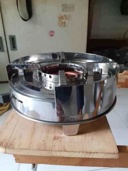 bếp cồn có chắn gió mẫu mới kèm 8 hộp cồn thạch  mâm bếp cồn