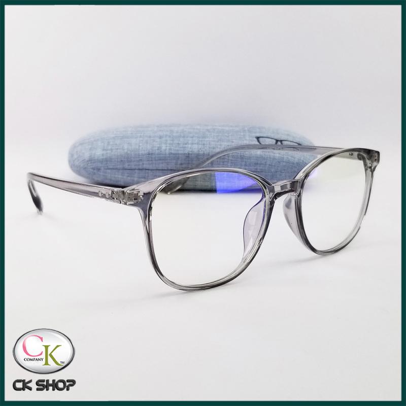 Giá bán Gọng kính cận nam nữ dẻo màu đen, màu xám. Tròng - mắt kính giả cận 0 độ, chống ánh sáng xanh, chống tia UV. Tặng bộ hộp đựng kính, túi vải dây rút