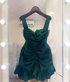 Váy đầm nữ body nhún bèo hai dây có mút ngực thumbnail