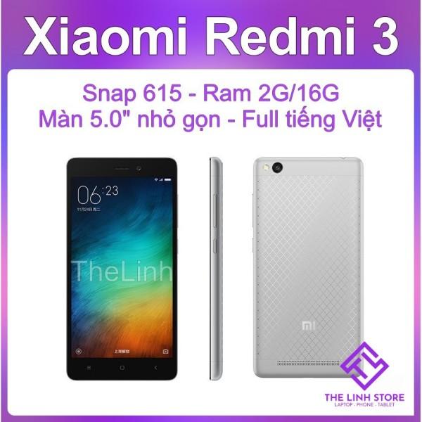 Điện thoại Xiaomi Redmi 3 16G có tiếng Việt - Snapdragon 615 Màn 5 inch