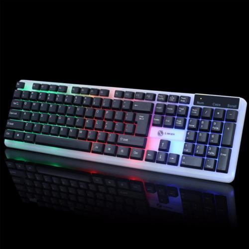 Bàn phím giả cơ led 7 màu cực đẹp LIMEIDE K11 (chọn màu trắng hoặc nền trắng phím đen)