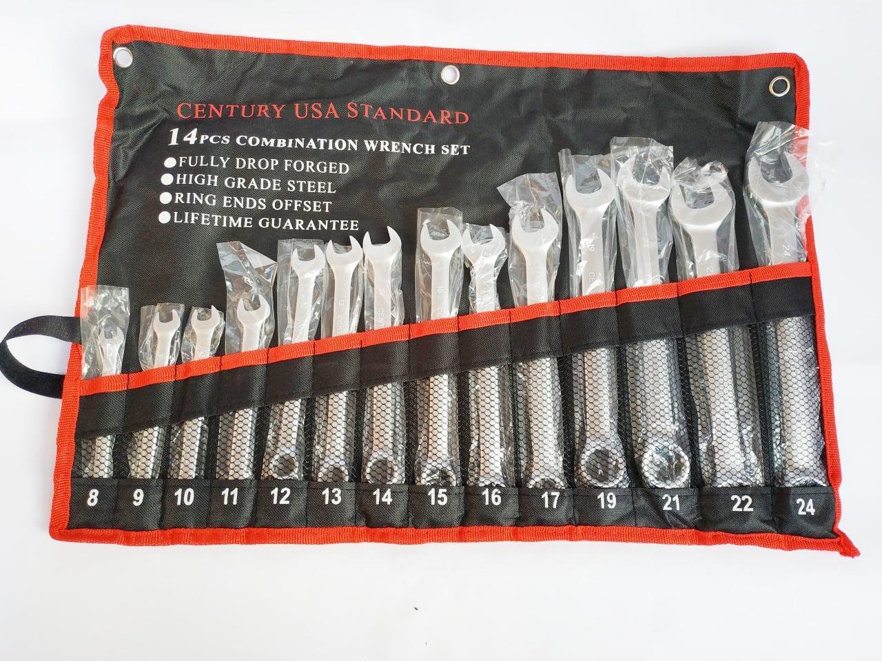 Cờ lê sửa xe - Bộ chìa khóa đa năng 8-24mm (Bao đựng đen)