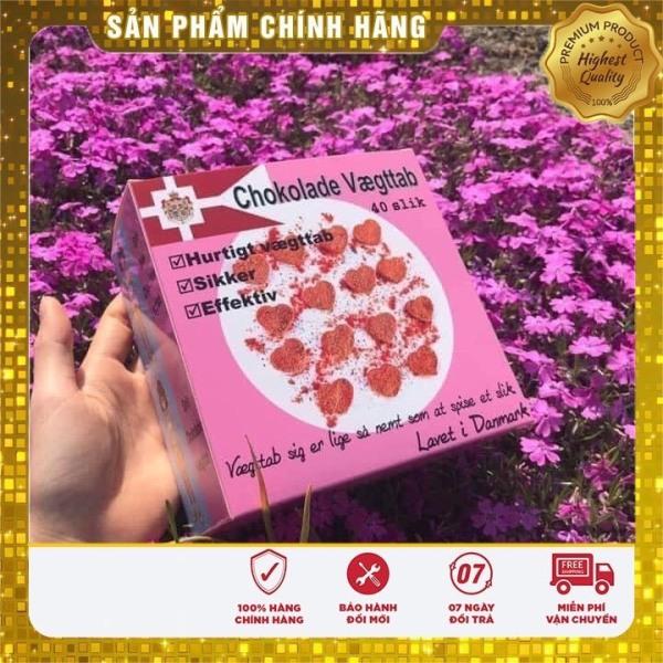 (MẪU MỚI FULL HỒNG Date 9/2022) Kẹo Socola Giảm Cân Đan Mạch - giảm cân X2 [ hộp 40 viên]