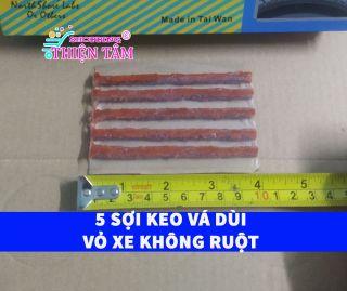 5 Sợi Keo 10cm Hãng Tawan Đài Loan Vá Dùi Vá Lụi Vá Rút Lốp Không Săm (Vỏ Không Ruột) thumbnail