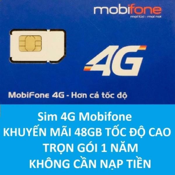 Sim 4G Mobifone MDT250A Trọn gói 1 năm giống F500 (4GB/Tháng) -