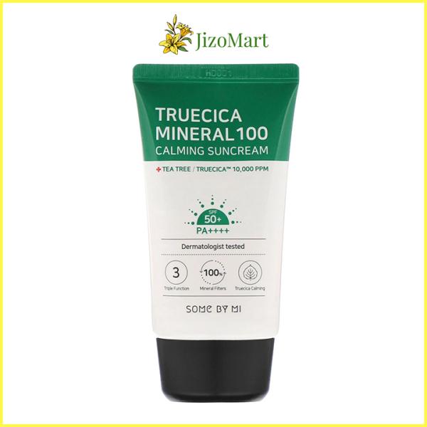 Kem Chống Nắng Tràm Trà Cho Da Mụn Some By Mi Truecica Mineral 100 Calming Suncream 50ml (SPF 50+) - some by mi chính hãng