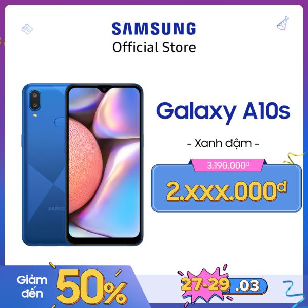 [MẪU MỚI CÓ VÂN] Điện thoại Samsung Galaxy A10s 32GB (RAM2GB) - Mới 100% - Màn hình tràn viền 6.2 + Công nghệ nhận diện khuôn mặt + Cảm biến vân tay một chạm mặt lưng + 2 camera sau + Pin 3500mAh -- Hàng phân phối chính hãng