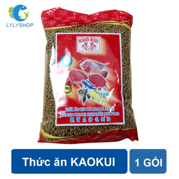 Thức ăn cho cá KaoKui dùng cho các loại cá kiểng, cá rồng, cá koi, hồng két.. loại 100gr/gói ( Nâu)