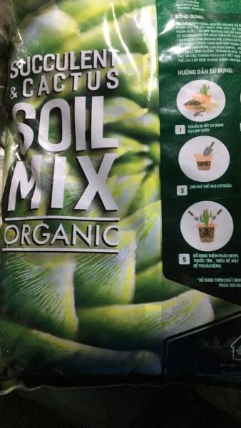 Giá thể trồng sen đá và xương rồng SOIL MIX BAO 15 LÍT