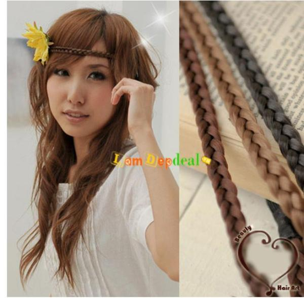 Băng đô bím tóc mềm mại - phụ kiện tóc giá rẻ - Lavy Store cao cấp