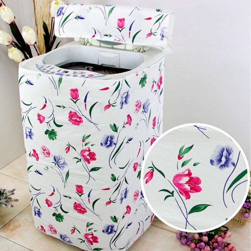 Bọc máy giặt cửa đứng, vỏ bọc bảo vệ máy giặt, họa tiết thanh lịch - giao màu ngẫu nhiên (Loại dày)