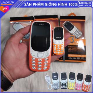 Điện Thoại Mini Siêu Nhỏ 3310MINI - 2 Sim 2 Sóng, Hỗ Trợ Khe Cắm Thẻ Nhớ, Nghe Nhạc MP3, Đổi Giọng Nói, Thiết Kế Mini Siêu Nhỏ thumbnail