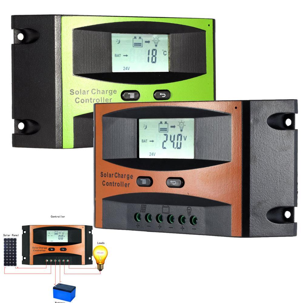 Bộ điều khiển sạc năng lượng mặt trời 12V24V / 40A Màn hình LCD