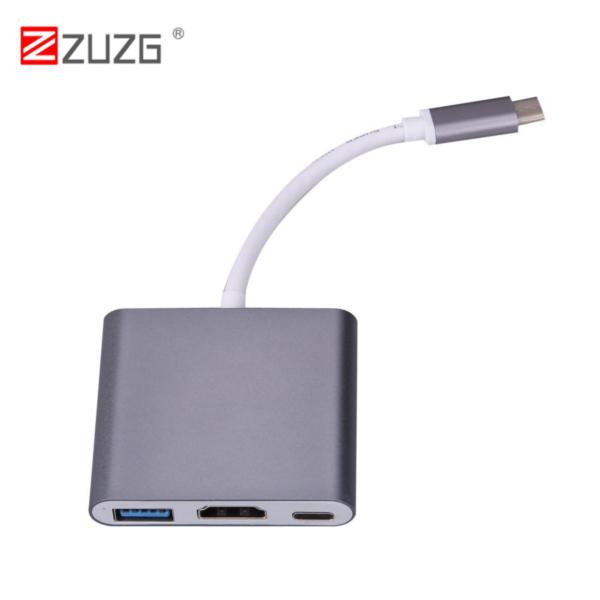 Giá ZUZG Type-C Multiport Adapter 3.1 to USB 3.0 + HDMI + Loại C Sạc adapter cho Macbook
