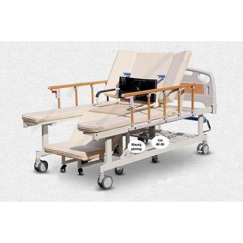 Giường bệnh đa năng tách xe lăn điều khiển bằng tay quay TG-BC06 nhập khẩu