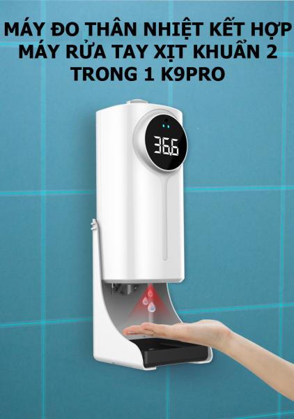 Máy đo thân nhiệt kết hợp máy rửa tay xịt khuẩn 2 trong 1 K9PRO DUAL có hỗ trợ tiếng Việt GD00021 bán chạy