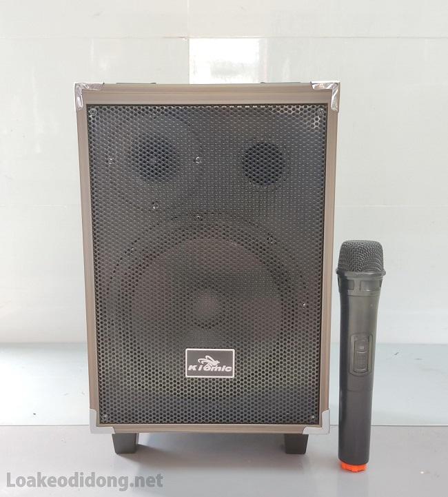 Loa vali kẹo kéo karaoke bluetooth temeisheng q8 kèm 1 micro giá rẻ