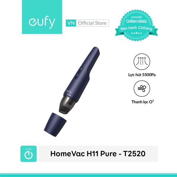 Máy hút bụi mini cầm tay không dây EUFY HomeVac H11 Pure (by Anker) - T2520 - Tính năng cao cấp: Ozone lọc không khí khử mùi - Hàng chính hãng